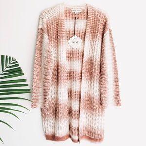 NWT KNOX ROSE | oversized striped cardigan sweater